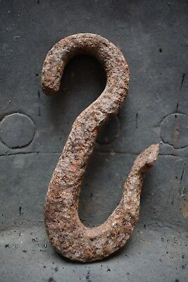 Victorian Blacksmith Made Wrought Iron Beam Hook old reclaimed vintage rural