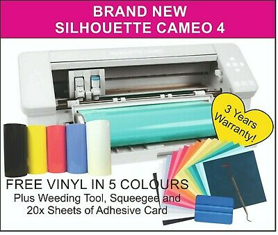 Silhouette Cameo 4 Cutter / Vinyl Cutter with FREE VINYL + 3 Year UK Warranty