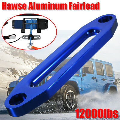 "12"" 12000lbs Hawse Aluminum Fairlead Synthetic Winch Rope Guide Offroad Recovery"
