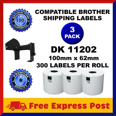 3 Rolls DK22205 Compatible Brother DK 22205 Continuous Shipping Labels Cartridge