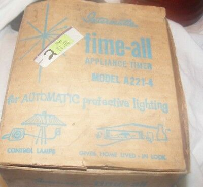 Intermatic Time-All Vintage Mid Century Model A211-4 Lamp/Appliance /Light Timer