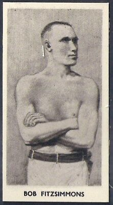 Cartledge-Famous Prize Fighters Boxing (Matt White Print)-#24- Bob Fitzsimmons
