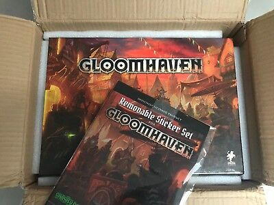 Gloomhaven 2nd Printing + Solo Scenarios + Removable Sticker Set