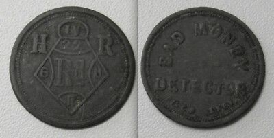 Scarce Collectable Bad Money Detector Token With Registration Mark
