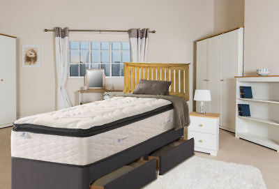 Shaker 4ft Small Double Headboard, Slatted Design for Divan Beds, SOLID WOOD
