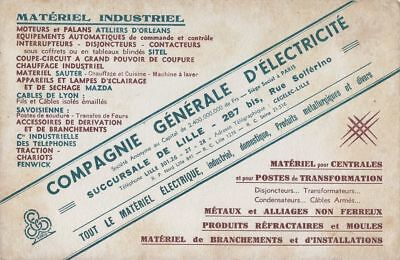 Buvard 113853 Compagnie General Electricite Lille-Jan