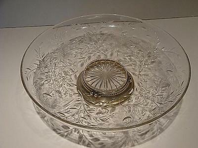 M. Fred Hirsch CO. Sterling Silver Crystal Bowl Center Piece Beautiful