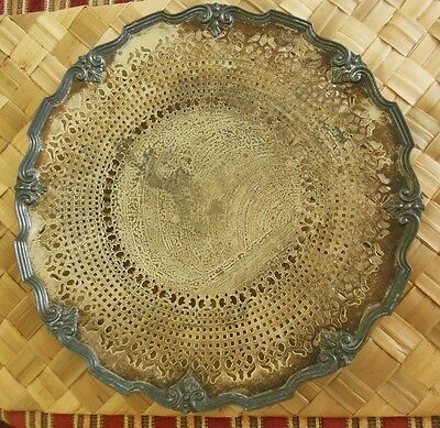 """Vintage KSO Electro Plate on Nickel Silver 10 5/8"""" Serving Plate C551"""