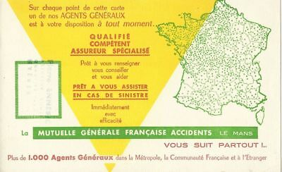 BUVARD 109980 MUTUELLE GENERALE CARTE DE France-JAN