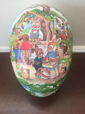Vintage Nestler White Paper Mache Easter Eggs Containers Made in Germany