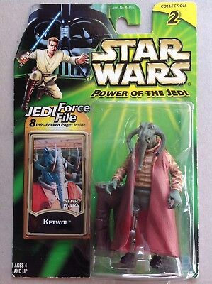 Star Wars Power of the Jedi Figur  #  Ketwol Collection 2 Jedi Force File
