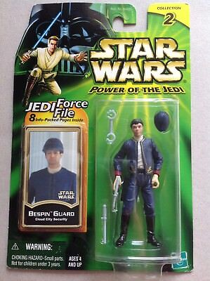 Star Wars Power of the Jedi Figur  #  Bespin Guard Collection 2 Jedi Force File