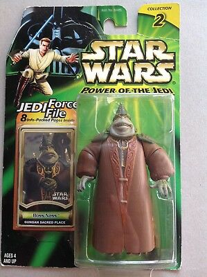 Star Wars Power of the Jedi Figur  #  Boss Nass Collection 2 Jedi Force File