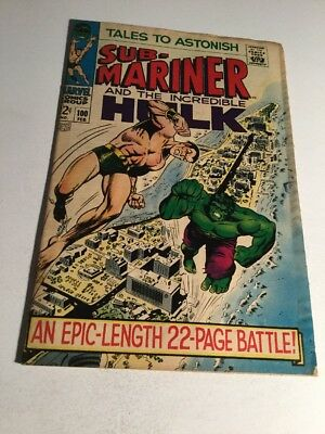 Tales To Astonish 100 Gd/Vg Good/Very Good 3.0 Silver Age Water Damage