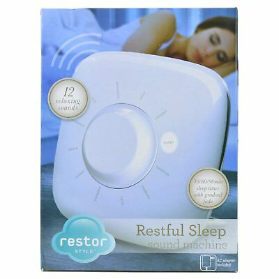 Sleep Sounds Therapy Machine Clock Noise Restful Relaxing Peaceful Rain Music