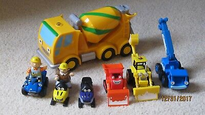 Lot of 7 :  Bob the Builder - TUMBLER concrete mixer, XMAS, trucks vehicles