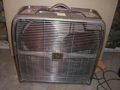 """Vintage Kenmore Automatic Thermostat 23.5"""" Universal Electric Co Box Fan WORKS"""