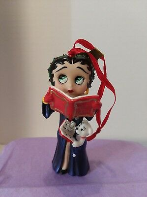 "Betty Boop ""Caroling Cutie"" Christmas Ornament Danbury Mint"