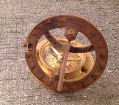 Replica folding Universal Equinoctial dial, signed Sewill, Liverpool,