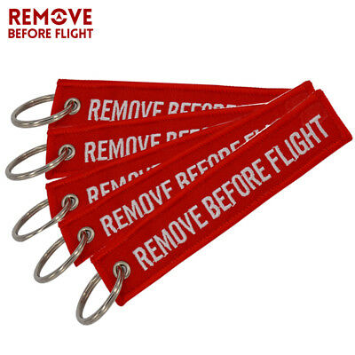 5x Remove Before Flight Chaveiro Key Chain for Cars KeyFob Jewelry Aviation Tags