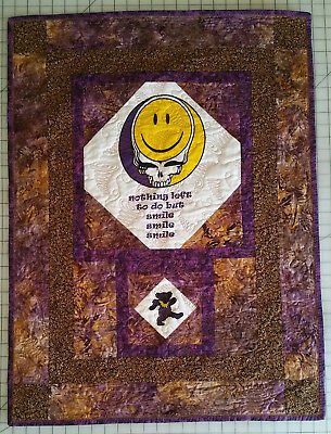 Grateful Dead Smiley Face Stealie Custom Wall Hanging