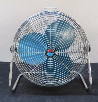 Vintage Lakewood HV18 High Velocity 3 Speed Floor Fan 3 blade