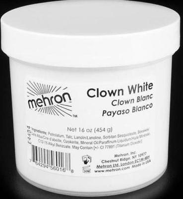 Mehron Makeup Clown White Face Paint -16oz