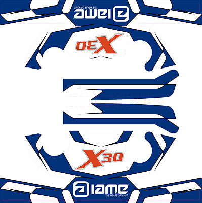 IAME X30 STYLE HEAD STICKER KIT - KARTING - JakeDesigns