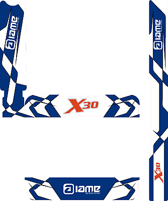 FA ALONSO STYLE IAME X30 HEAD STICKER KIT KARTING JakeDesigns