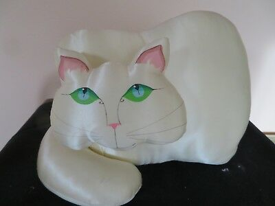 Very Nice Jan Feenstra Cat Pillow Dated 1978 Excellent Condition Collector Piece