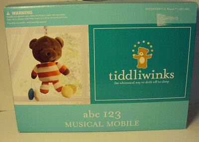Tiddliwinks Brand abc 123 Bears Musical Mobile Brahm's Lullaby Baby Unisex