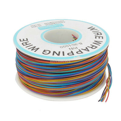 P/N B-30-1000 30AWG Tin Plated Copper Wire Cable Reel Colorful 200M 0.5 x 0.25mm
