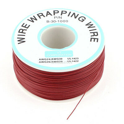 H● P/N B-30-1000 1000Ft 0.25 mm Tin-Plated Copper Wire-Wrapping Wire Reel 30AWG