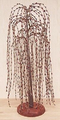 """New Primitive Pip Berry Burgundy Weeping Willow Tree 24"""" FARMHOUSE Decor"""