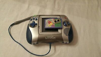 LeapFrog Leapster L-Max Learning Game System Blue Silver Works plus Kindergarten