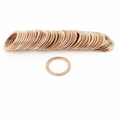 50 Pcs 20x26x1.5mm Flat Copper Crush Washer Sealing Ring Gasket 16MPa 350C 1083C