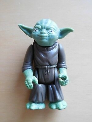 Vintage 1980 Star Wars YODA Dark Green Pac-Man Eyes EXCELLENT Variant