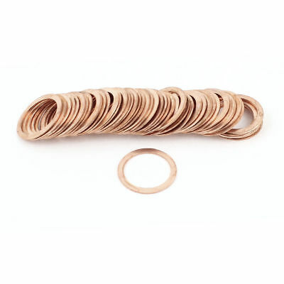 50Pcs 21mmx27mmx1mm Flat Copper Washer Ring Seal Gasket Fitting 350C 16MPa 1083C