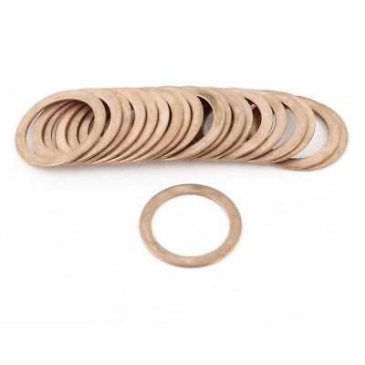 20 Pcs 30mmx40mmx1.5mm Flat Copper Crush Washer Sealing Ring Gasket 350 C 1083C
