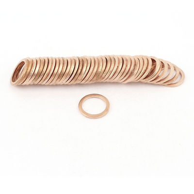H● 50* 14 x18 x2mm Flat Copper Washer Ring Seal Gasket Replacement