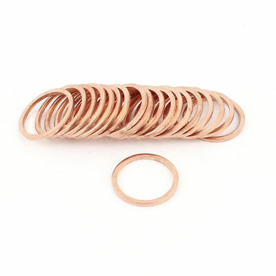 20Pcs 22mmx28mmx2.8mm Copper Crush Washer Flat Seal Ring Gasket Replacement 350C