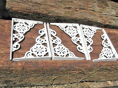 6 Small White Cast Iron Victorian style Wall Brackets
