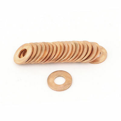 20 Pcs 10mmx22mmx2mm Copper Crush Washer Flat Ring Gasket Fitting 350C 1083C 99g