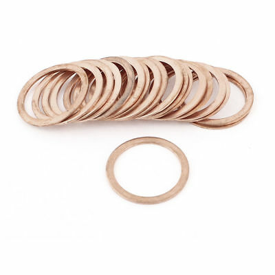 20Pcs 30mmx38mmx1.5mm Flat Copper Crush Washer Sealing Ring Gasket 350C 16MPa 91