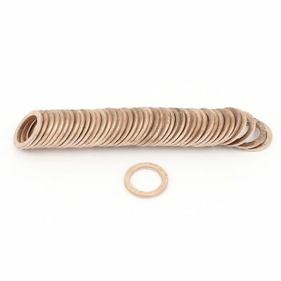 50Pcs 12mmx17mmx1.5mm Copper Crush Washer Flat Seal Ring Fitting 16MPa 1083C 65g