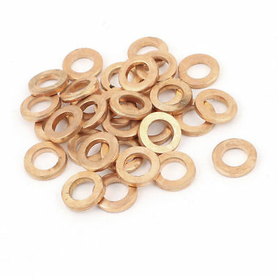 50Pcs 6mmx11mmx2mm Copper Crush Washer Flat Ring Gasket Fitting 350C 16MPa 1083C