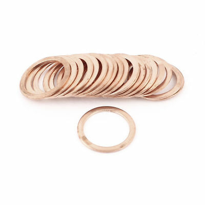 20 Pcs 27mmx35mmx1.5mm Flat Copper Crush Washer Sealing Ring Gasket 350 C 1083 C
