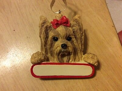 E&S IMPORTS Christmas Pet YORKSHIRE TERRIER Dog Ornament Gift U Personalize It!