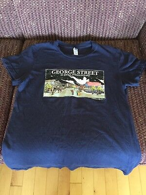 George St. T-Shirt Girls XL Good Condition Wallace Ryan Art