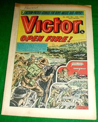Irish Guards In Flanders  Sgt. Moyney V.c.  Ww1 Cover Story In Victor 16/3/1974